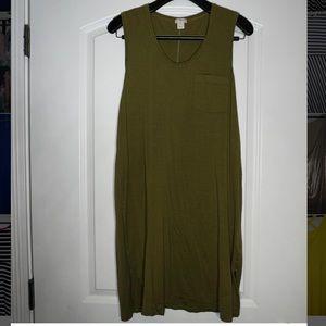 J. Crew army green shirt dress